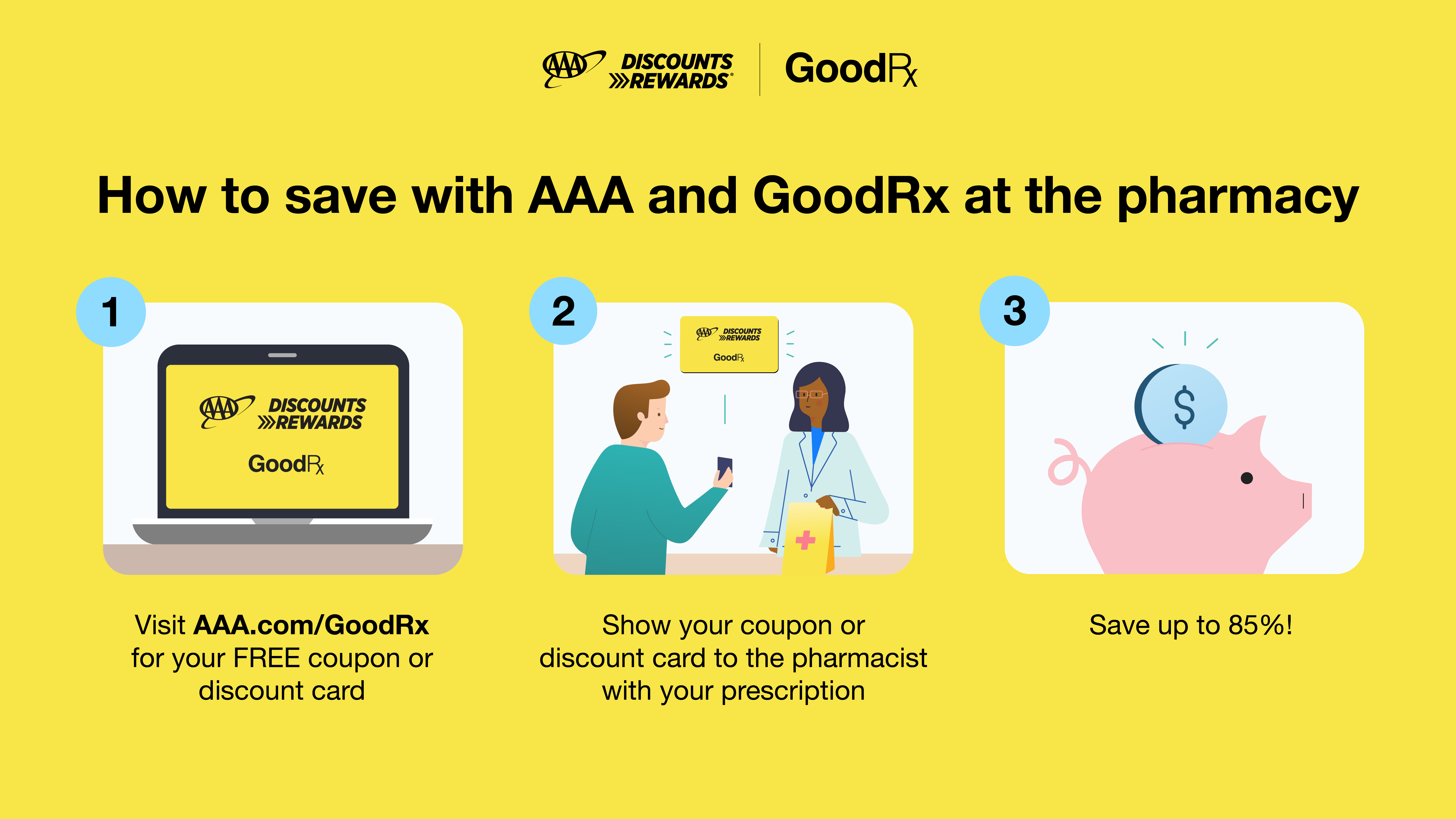 Save more on prescriptions with AAA & GoodRx!