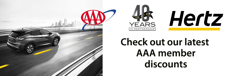 AAA and Hertz. See the benefits
