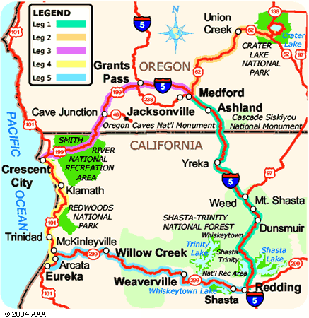 map of northern california and southern oregon california map