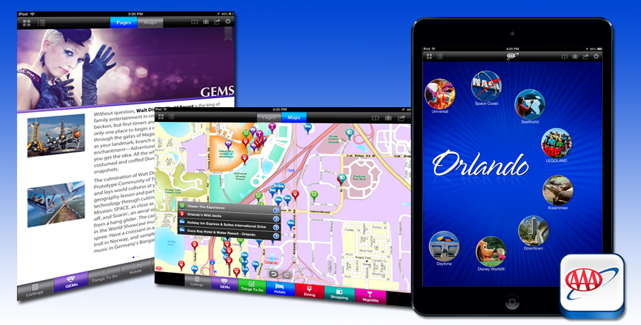 Travel information in mobile online and print formats – Aaa Travel Maps And Directions