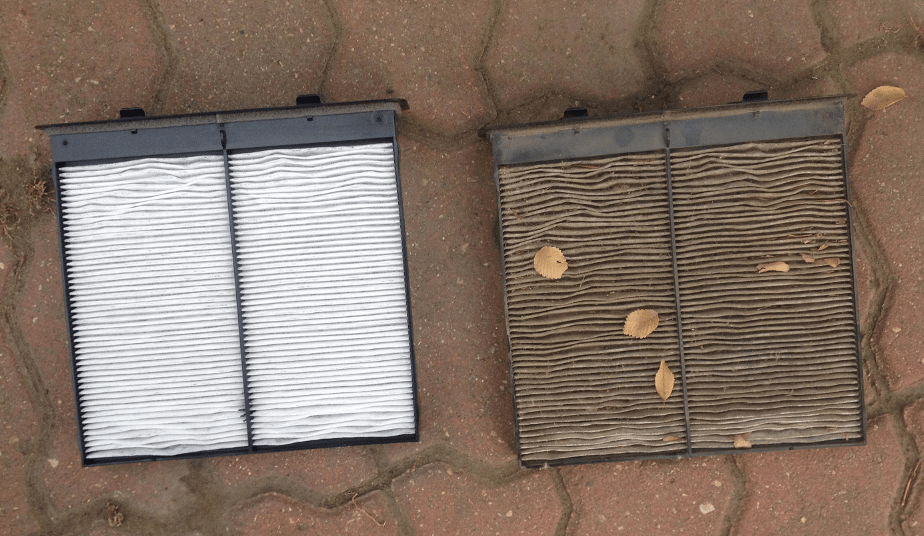 Clean And Dirty Cabin Air Filters. (Image: Ryan Gsell)
