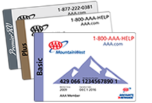 AAA MountainWest membership cards