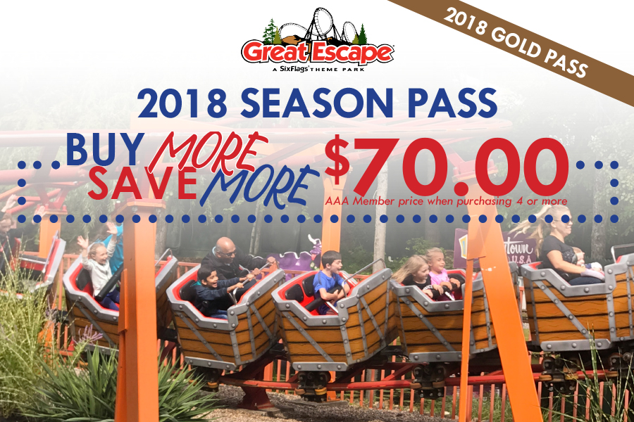 Save on Great Escape Gold Season passes 2018